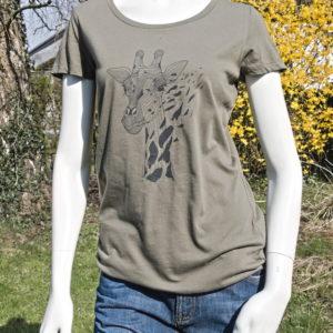 T-Shirt Kurzarm, Giraffe, greenbomb Kopie