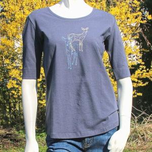 T-Shirt Rehe, greenbomb Kopie